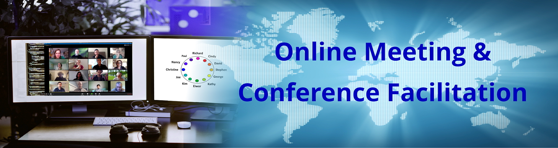 Online meeting and conference facilitation
